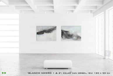 Schilderijen Blanco Negro 1 + 2