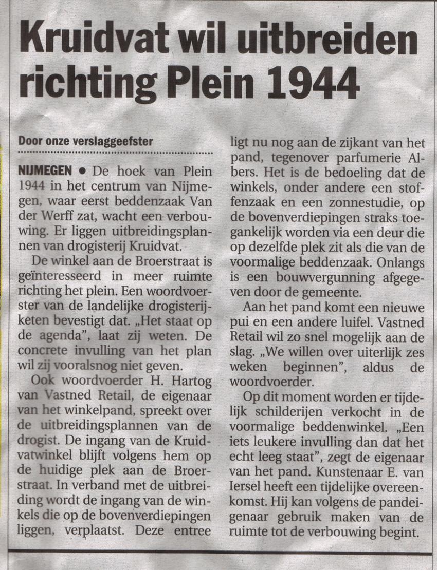 Galerie Zeven Zomers | Plein 1944 | zomer 2003