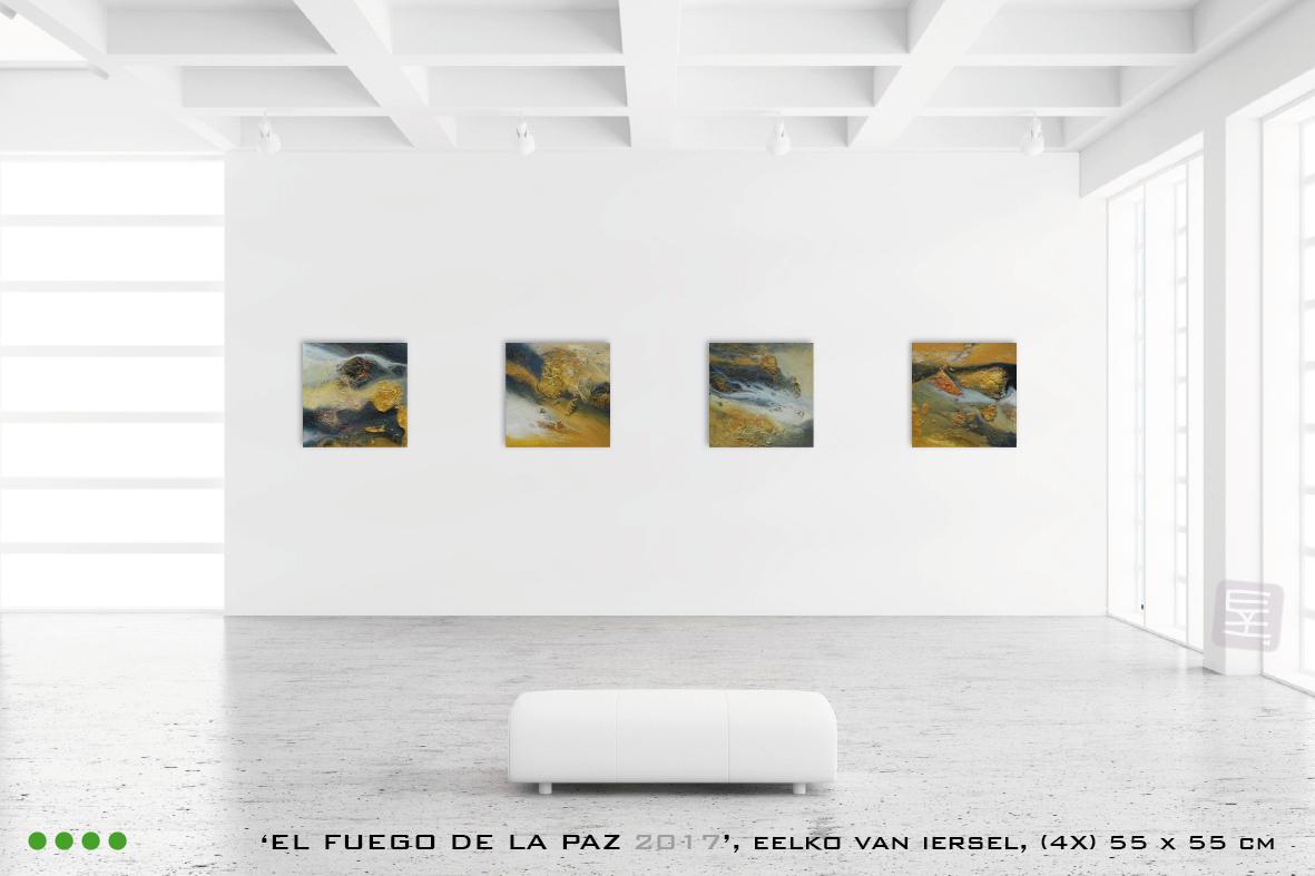 Schilderijen El fuego de la paz 2017