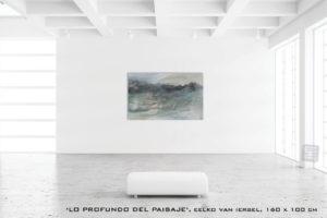 Schilderijen lo profundo del paisaje van Eelko van Iersel, olieverf en zand op doek