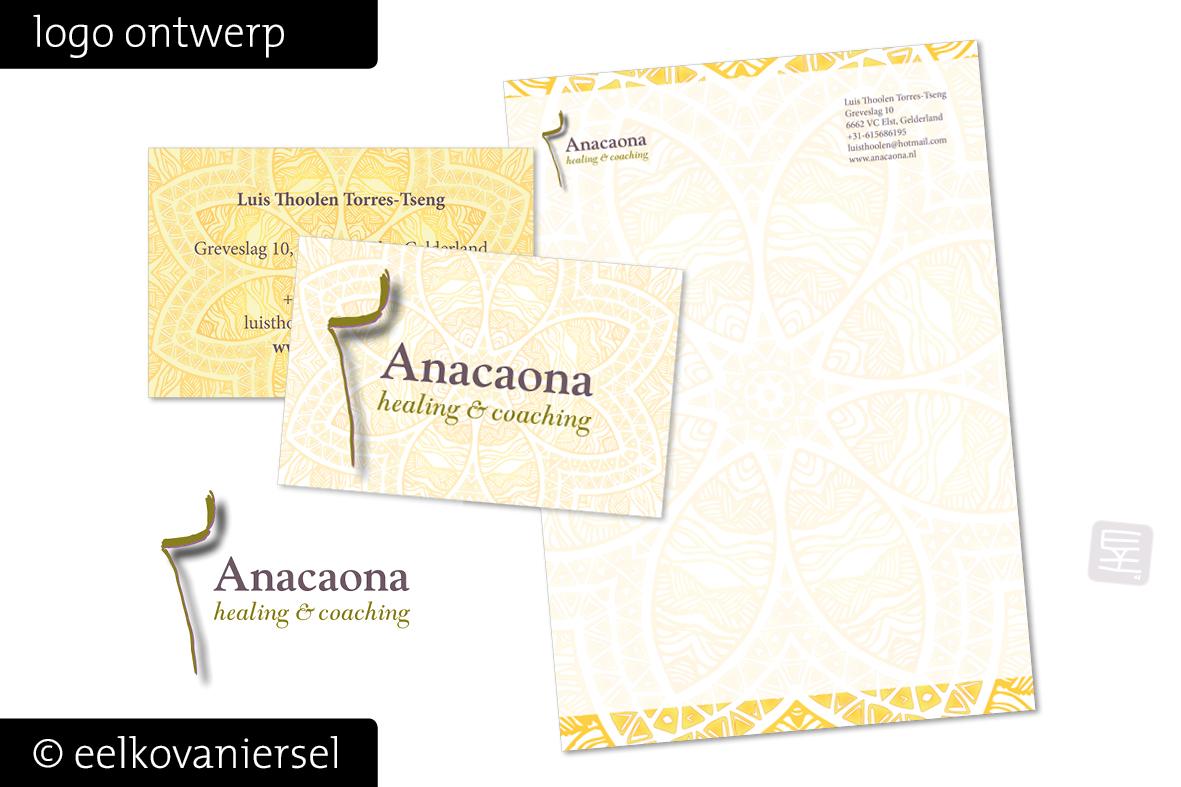 Logo huisstijl ontwerp Anacaona Healing & Coaching