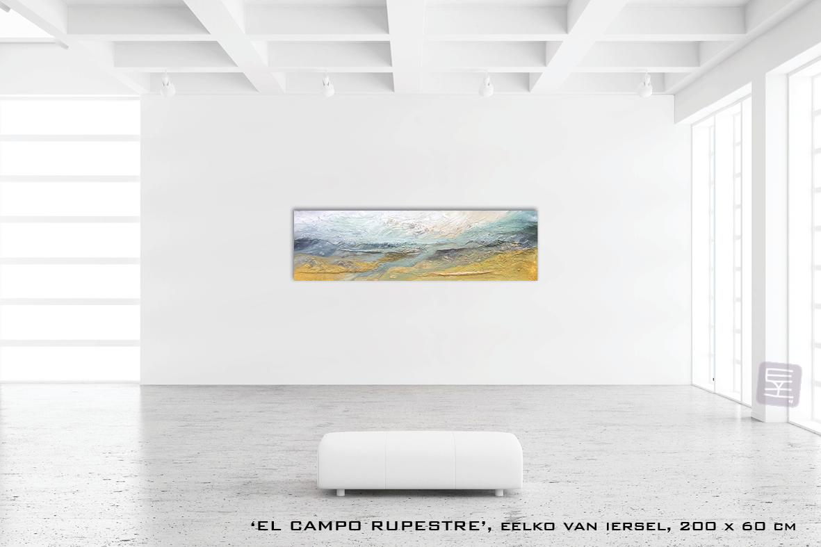 Schilderij El campo rupestre van Eelko van Iersel, olieverf en zand op doek