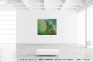 Schilderij Eelko van Iersel abstract non figuratief groen expressief lyrisch zand reliëf structuur materie olieverf