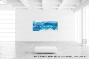 Schilderij MAR ARBOLADA van Eelko van Iersel, olieverf en zand op doek