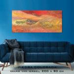 Schilderij van Eelko van Iersel, olieverf en zand op doek, abstract, kleurrijk, expressief, moderne kunst, hedendaagse kunst interieur advies te koop