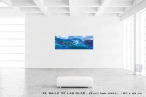masterpiece Eelko van Iersel schilderij blauw spiritueel onderwaterwereld ocean oceaan zee lichtwerk kunstschilder groot formaat grote schilderijen abstract te koop expressief luxueus interieur modern art of living